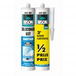 Bison siliconenkit sanitair wit - 310 ml.