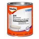 Alabastine muurverf 2in1 badkamer & keuken anti schimmel - 1 liter