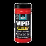 Bison wipes scrub - 40 stuks
