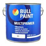 Bullpaint multiprimer waterbasis wit - 2,5 liter