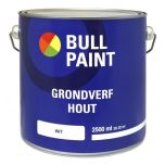 Bullpaint grondverf hout wit - 2,5 liter