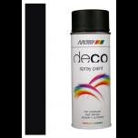 Motip deco alkyd zijdeglans lak RAL 9005 diep zwart - 400 ml.