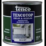 Tenco tencotop houtbescherming dekkend zijdeglans RAL 9010 / gebroken wit (40) - 750 ml.