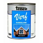Tenco verf acryl zijdeglans zwart (RAL 9005) - 750 ml