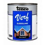 Tenco verf zijdeglans zwart (RAL 9005) - 750 ml