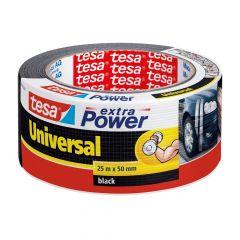 Tesa extra power universal tape zwart - 25 m x 50 mm