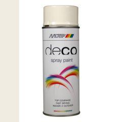 Motip deco alkyd hoogglans lak RAL 9010 helder wit - 400 ml.