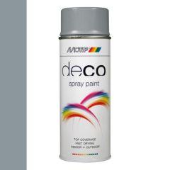 Motip deco alkyd hoogglans lak RAL 7001 zilvergrijs - 400 ml.