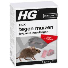 HGX tegen muizen lokpasta navullingen