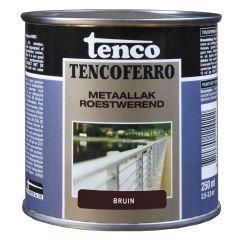 Tenco ferro roestwerende ijzerverf bruin - 250 ml.