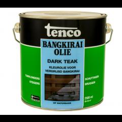 Tenco bangkirai olie dark teak - 2,5 liter