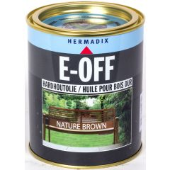 Hermadix E-Off hardhoutholie nature brown - 750 ml.