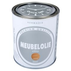 Hermadix meubelolie extra mat wit - 750 ml.