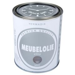 Hermadix meubelolie extra mat castle grey - 750 ml.