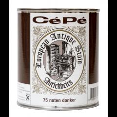 Cépé antiekbeits classic lijn nr. 75 noten donker - 500 ml.