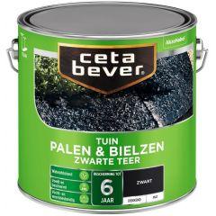 Cetabever palen & bielzen zwarte teer - 2,5 liter