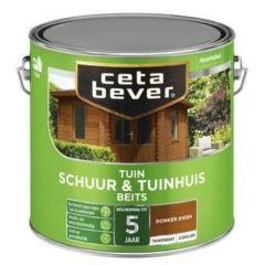 Cetabever tuinbeits plus transparant zijdeglans donker eiken 009 - 2,5 liter
