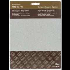 Copenhagen Gold schuurpapier droog waterproof - 3 stuks