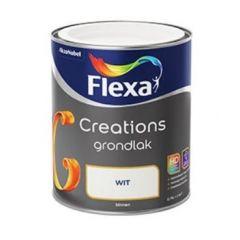 Flexa creations grondlak wit - 750 ml.