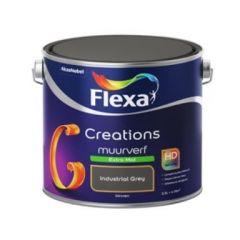 Flexa creations muurverf extra mat industrial grey 3036 - 2.5 liter.