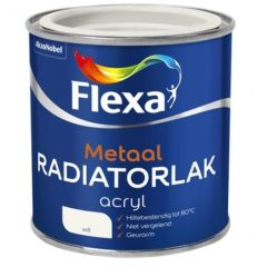 Flexa acryl radiatorlak wit - 750 ml.