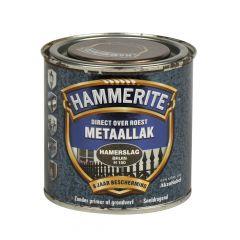 Hammerite direct over roest metaallak hamerslag bruin - 250 ml.