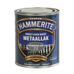 Hammerite direct over roest metaallak hamerslag grijs - 750 ml.
