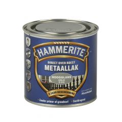 Hammerite direct over roest metaallak hoogglans grijs - 250 ml.