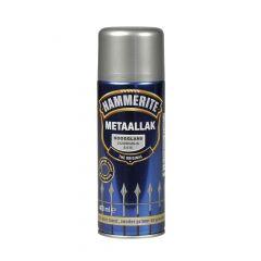 Hammerite direct over roest metaallak hoogglans verspuitbaar zilvergrijs - 400 ml.
