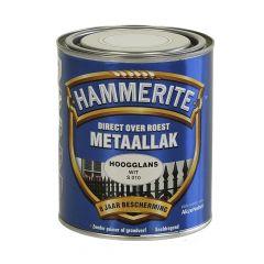 Hammerite direct over roest metaallak hoogglans wit - 750 ml.