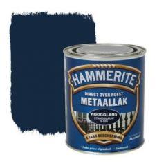 Hammerite direct over roest metaallak hoogglans standblauw (S028) - 750 ml.