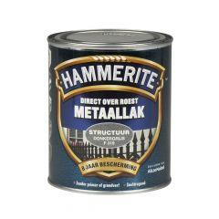 Hammerite direct over roest metaallak structuur donkergrijs - 750 ml.