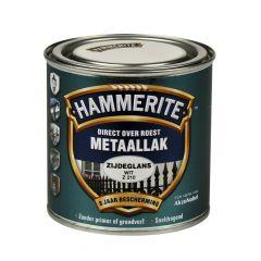 Hammerite direct over roest metaallak zijdeglans wit - 250 ml.