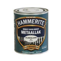 Hammerite direct over roest metaallak zijdeglans wit - 750 ml.
