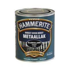 Hammerite direct over roest metaallak zijdeglans zwart - 750 ml.