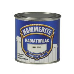 Hammerite radiator lacquer gloss ral 9010 - 250 ml.