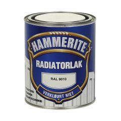 Hammerite radiatorlak ral 9010 - 750 ml.