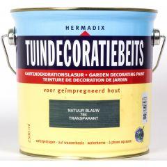 Hermadix tuindecoratiebeits natuur blauw - 2,5 liter