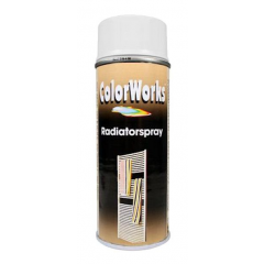 Motip Colorworks radiatorlak zijdeglans wit - 400 ml