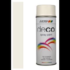 Motip deco alkyd matte lak RAL 9010 helder wit - 400 ml.