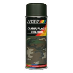 Motip camouflagelak mat grijs - 400 ml.