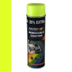 Motip removable coating / verwijderbare film fluorescerend geel (04310) - 500 ml.