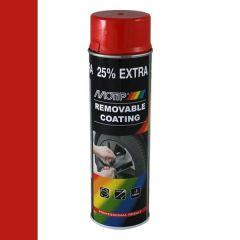 Motip removable coating / verwijderbare film hoogglans rood (04309) - 500 ml.