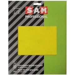 SAM professional schuurpapier droog korund extra grof - 3 stuks