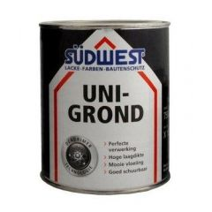 Südwest uni-grond X18 grondverf zwart - 375 ml.