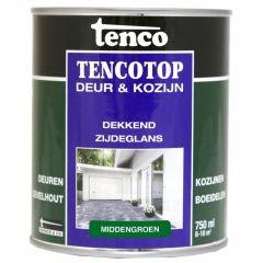 Tenco tencotop houtbescherming dekkend zijdeglans middengroen (52) - 750 ml.