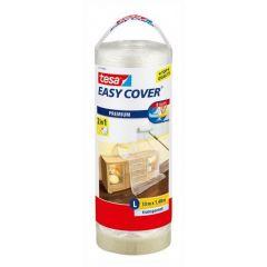 Tesa easy cover afdekfolie + afplakband papier navulling 33 m x 1,4 m