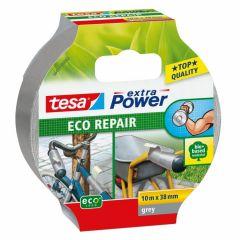 Tesa extra power eco repair textieltape grijs - 10 m x 38 mm.