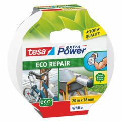 Tesa extra power eco repair textieltape wit - 20 m x 38 mm.