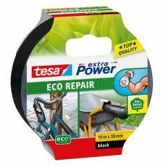 Tesa extra power eco repair textieltape zwart - 10 m x 38 mm.